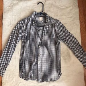 Gap Gingham Navy Casual button down shirt